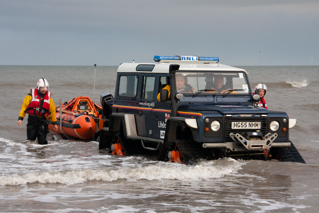Rnli Tracked Land Rover Modified Rnli Land Rover During