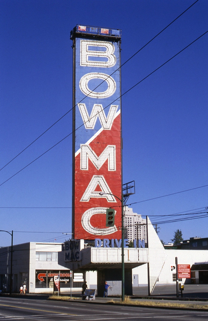Bowmac Sign 1958 1154 West Broadway Vancouver Bc