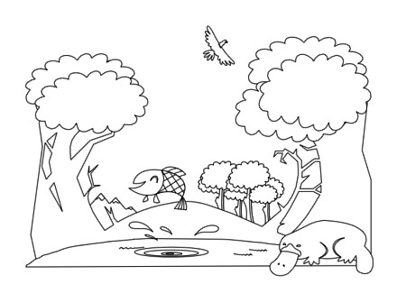 forest animals coloring book pg 5 this is some free stuff flickr. Black Bedroom Furniture Sets. Home Design Ideas