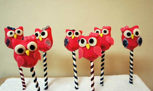 Girlie Pink! Owl Birthday Cake Pops | by BAKECupcakery