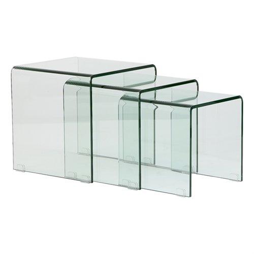 Mesas nido de cristal templado for Mesa cristal templado ikea