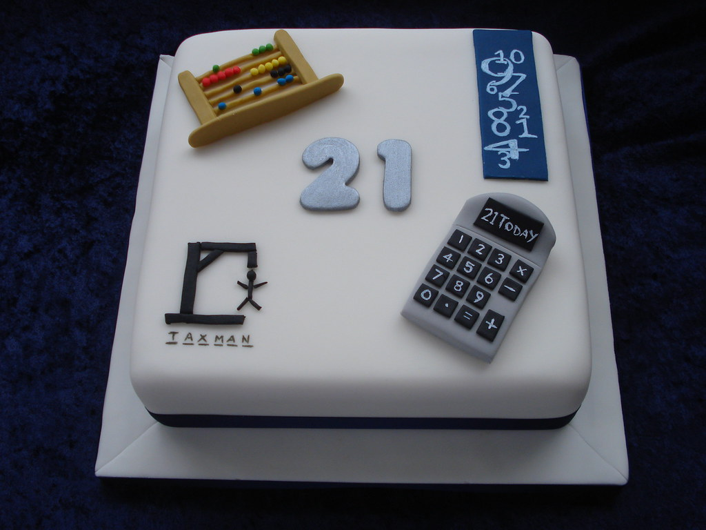 Accountants Cake A Cake To Celebrate The 21st Birthday