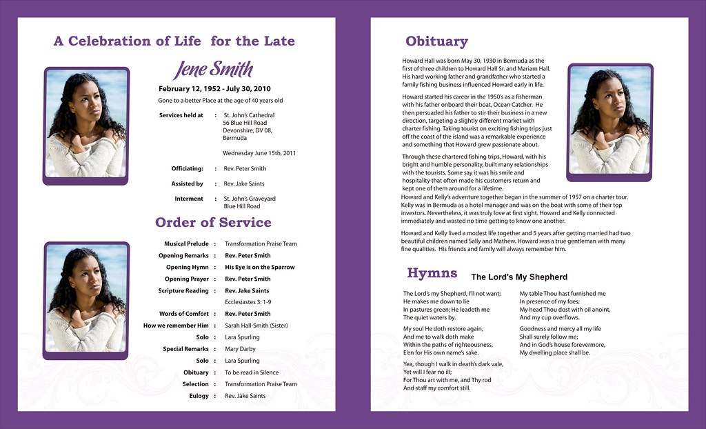 free editable funeral program template microsoft word - funeral programs templates free funeral templates flickr