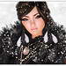 Winter White & A Smudge o' Coal Black
