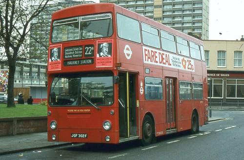 London Transport . DMS302 JGF302K . Leyton Green , London ...