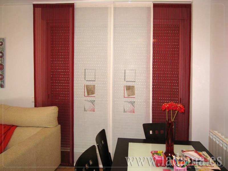 decoracin para salones modernos cortinas paneles japoneses estores enrollables with decoracion salones cortinas