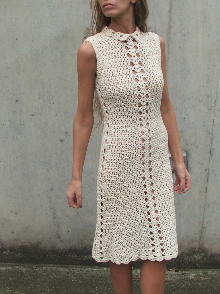 Retro crochet dress 1 cherylline Flickr
