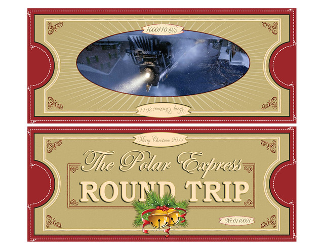 Polar Express Ticket Printable Polar express tickets fold 8.5