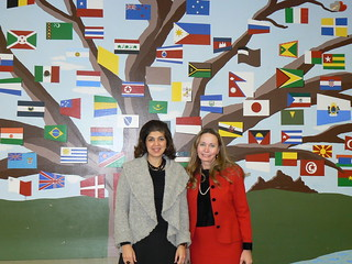 Farah Pandith at Ridgewood High School with Vice-President Ann Taillon | by US Embassy Canada