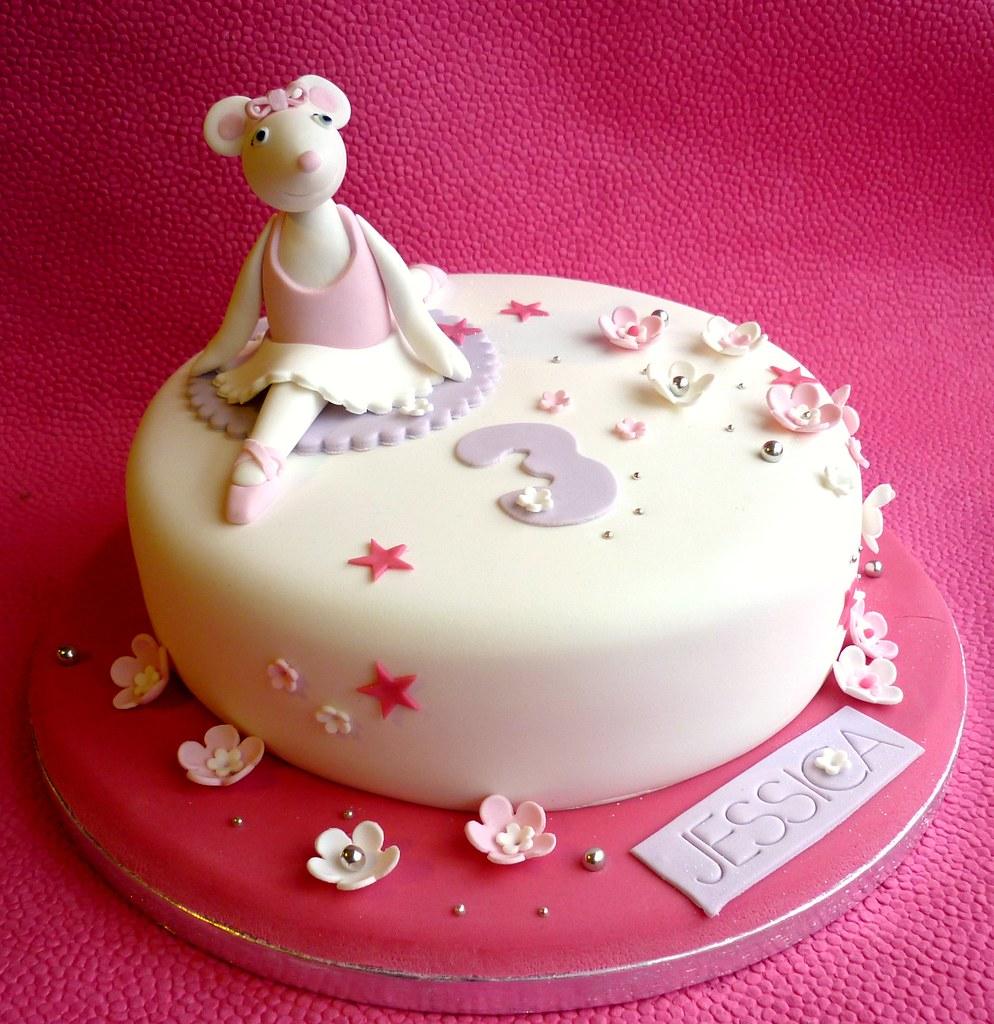 Angelina Ballerina Cake Topper Tutorial