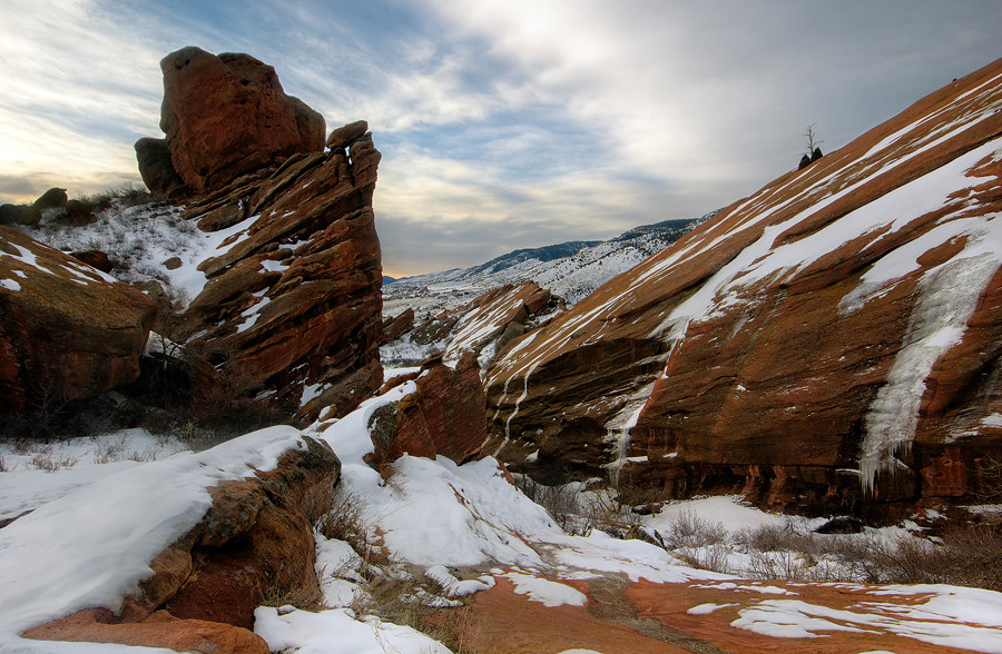 Winter At Red Rocks Red Rocks Amphitheater In Morrison