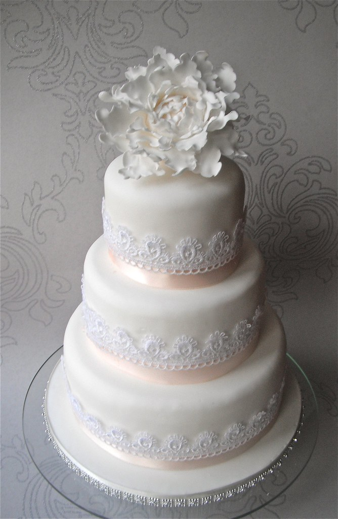 wedding cakes cumbria peony lace wedding cake charlottescupcakes 24129