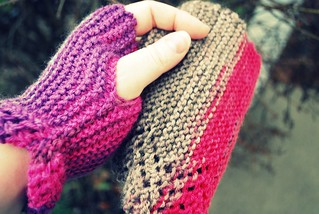 fingerless mitts | by Stephanie Precourt