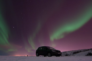 My Car in Nature's Spotlight | by Harpa Hrund