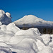 Mount Trout Lake looks bigger than Mount Adams!