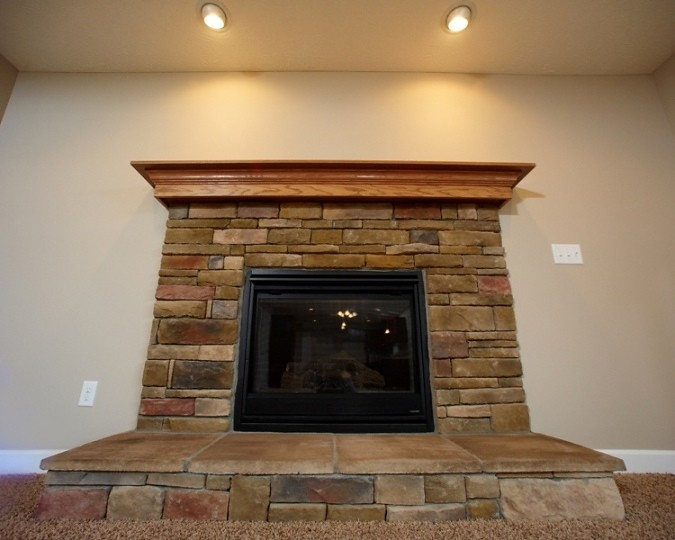 faced fireplace wayne homes flickr