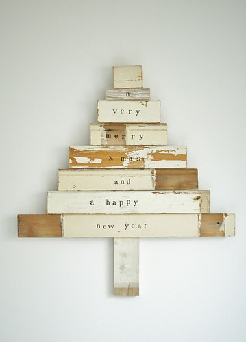 scrapwood xmas tree by wood & wool stool | by the style files