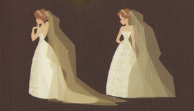 rapunzel wedding dress concept art posted to tangled