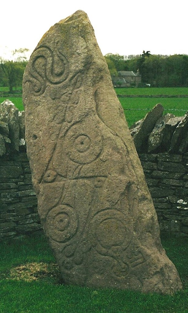 Carved pictish standing stone aberlemno