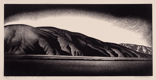 """Coachella Valley"" - Paul Landacre - Wood Engraving - 1930's (?) 