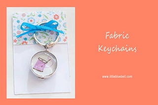 Fabric Keychains | by Little Bluebell