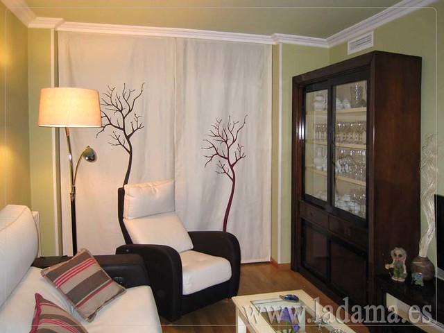 Decoraci n para salones cl sicos cortinas con dobles - Decoracion con paneles ...