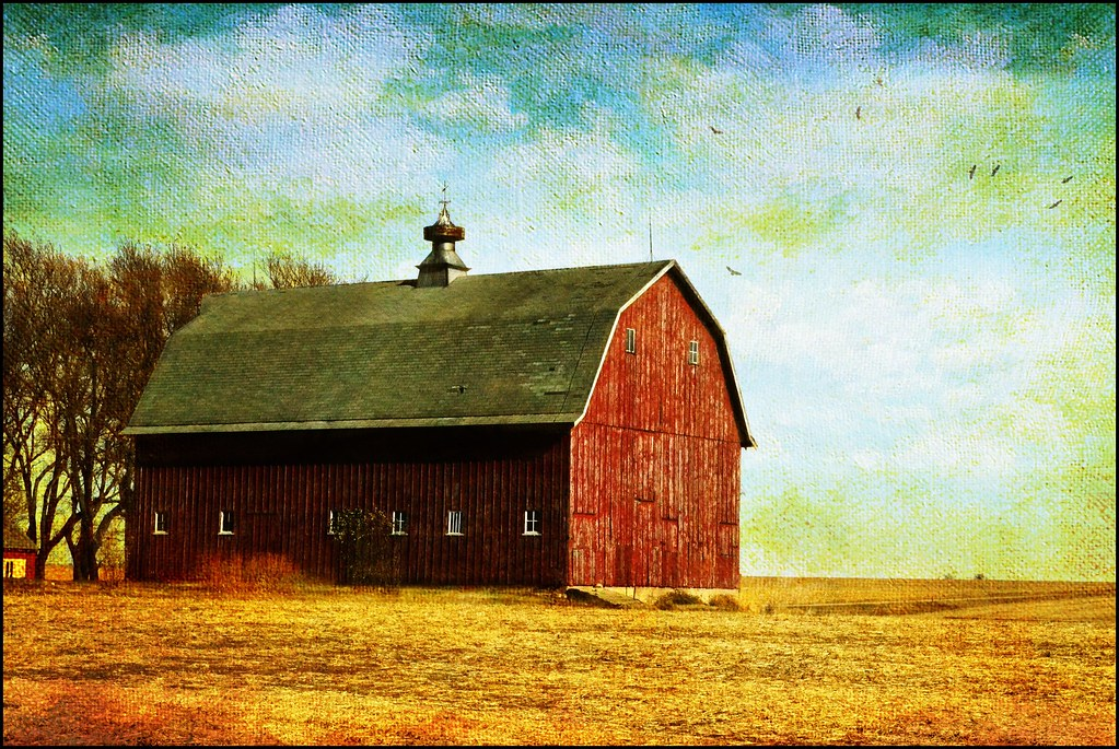 Red Barn after Harvest | Northwest Iowa. Another gambrel roo… | Flickr