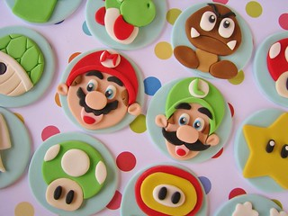Super Mario Bros. Cupcake Toppers | by Lynlee's