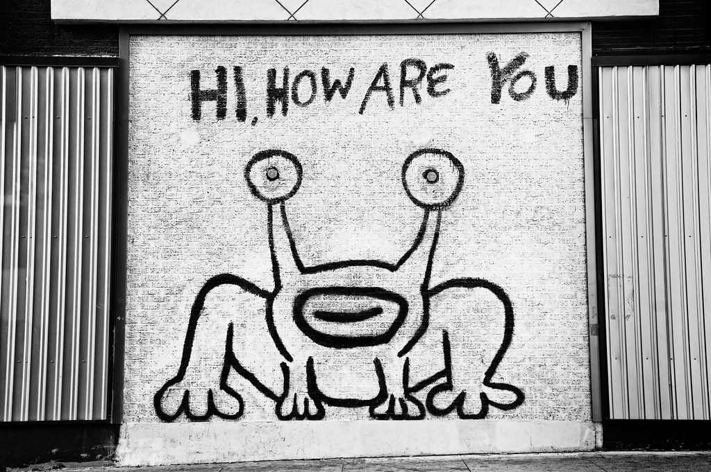 Hi how are you daniel johnston 39 s mural of jeremiah the for Daniel johnston mural