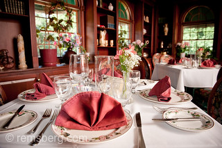 table set up of fine dining collections