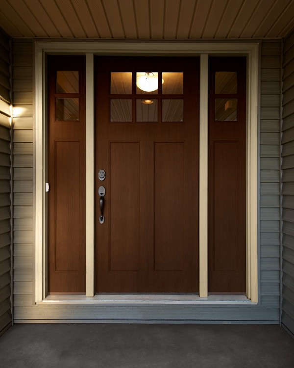 Craftsman style front door mcallister wayne homes flickr for Exterior back door styles