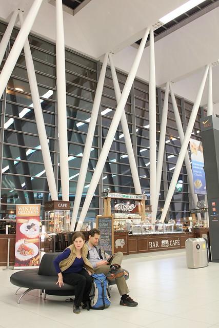 Sky Court de la Terminal 2 del aeropuerto de Budapest