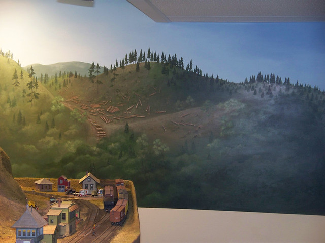 Model railroad backdrop mural flickr photo sharing - Model railroad backdrops ...