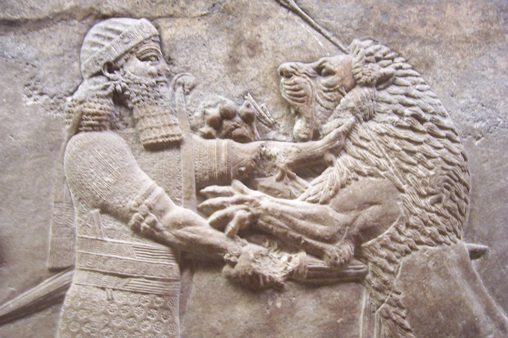 Assyrian King Ashurbanipal Lion Hunt   Bc From Ninev Flickr