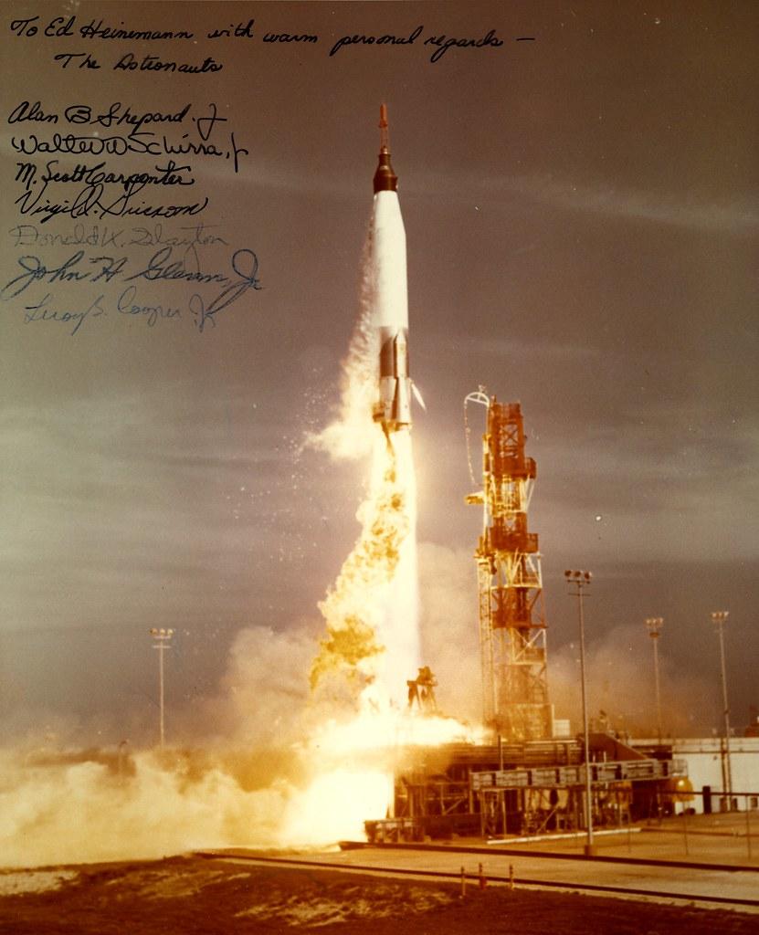 Mercury 7 | Autographed to Ed Heinemann Repository: San ...
