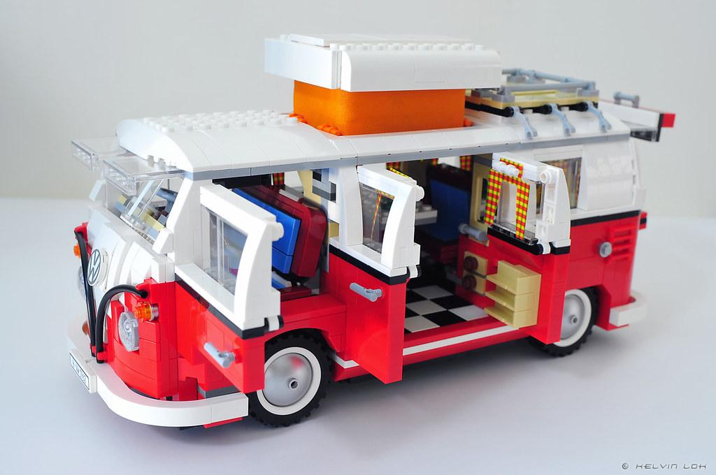 lego vw camper van build pics lego 10220 volkswagen t1 c flickr. Black Bedroom Furniture Sets. Home Design Ideas