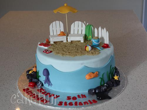 How To Make A Beach Scene Cake