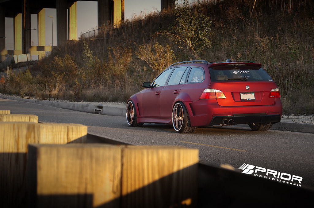 Custom Widebody BMW 5 Series Wagon Featuring Prior Design ...
