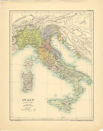 Map page of Section LXV Italy c 1060-1167 from Part XXVII of Historical atlas of modern Europe from the decline of the Roman empire : comprising also maps of parts of Asia and of the New world connected with European history | by uconnlibrariesmagic