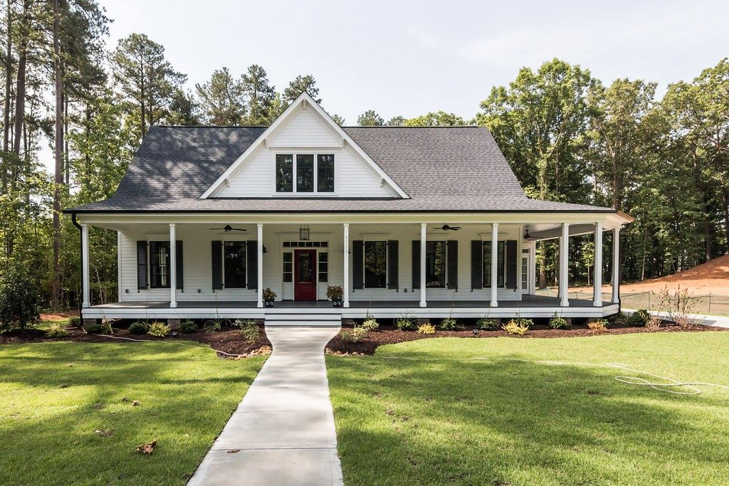 Southern Living Farmhouse Revival Plan No 1821 Black And