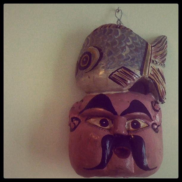 Fish head mask art steven l johnson flickr for Fish head mask