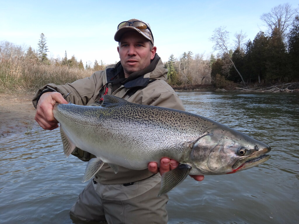 Mike with a fresh salmon