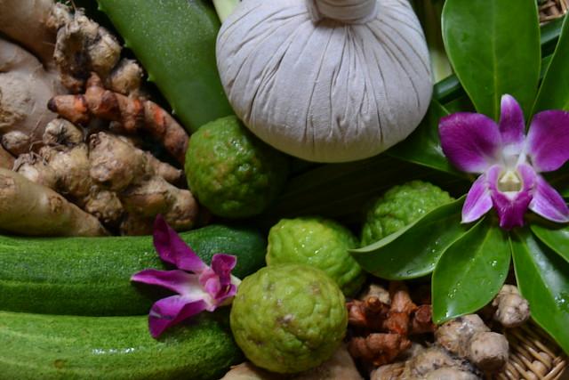 Herbal stamp massage