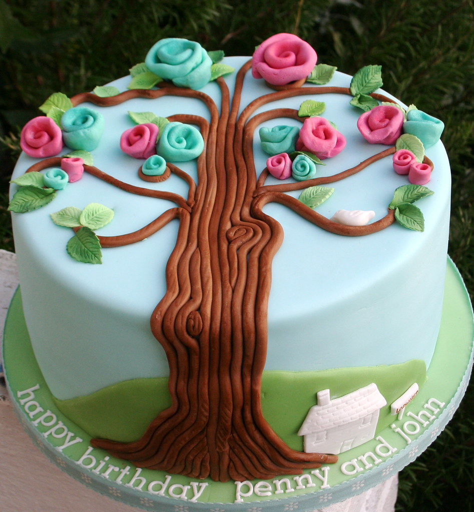 Family Tree Birthday Cake For A Mum And