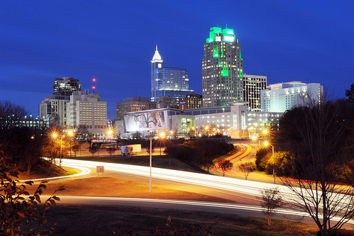 Downtown Raleigh at night - January 2012 | by NCDOTcommunications