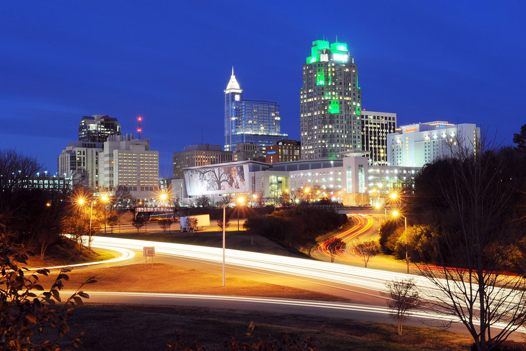 downtown raleigh at night january 2012 visitors approach flickr. Black Bedroom Furniture Sets. Home Design Ideas