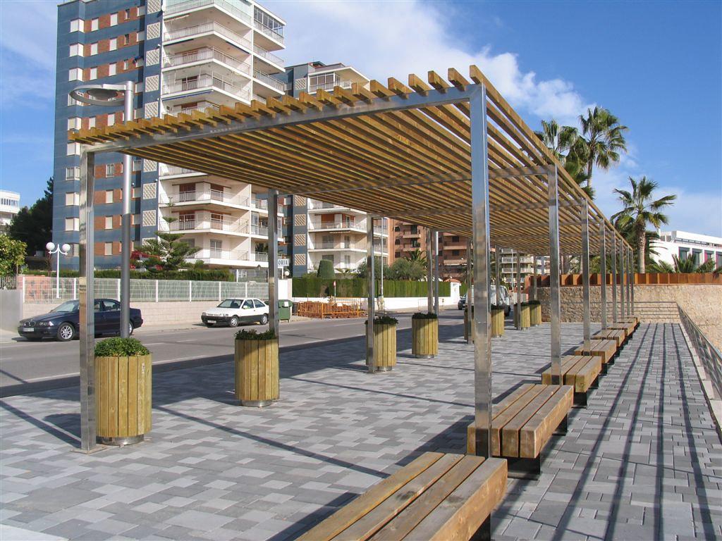 Mobiliario urbano p rgola de madera panam mobipark flickr for Mobiliario espacio publico