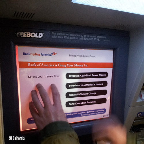 Bank of America ATMs In San Francisco Turned Into Truth Machines | by Rainforest Action Network
