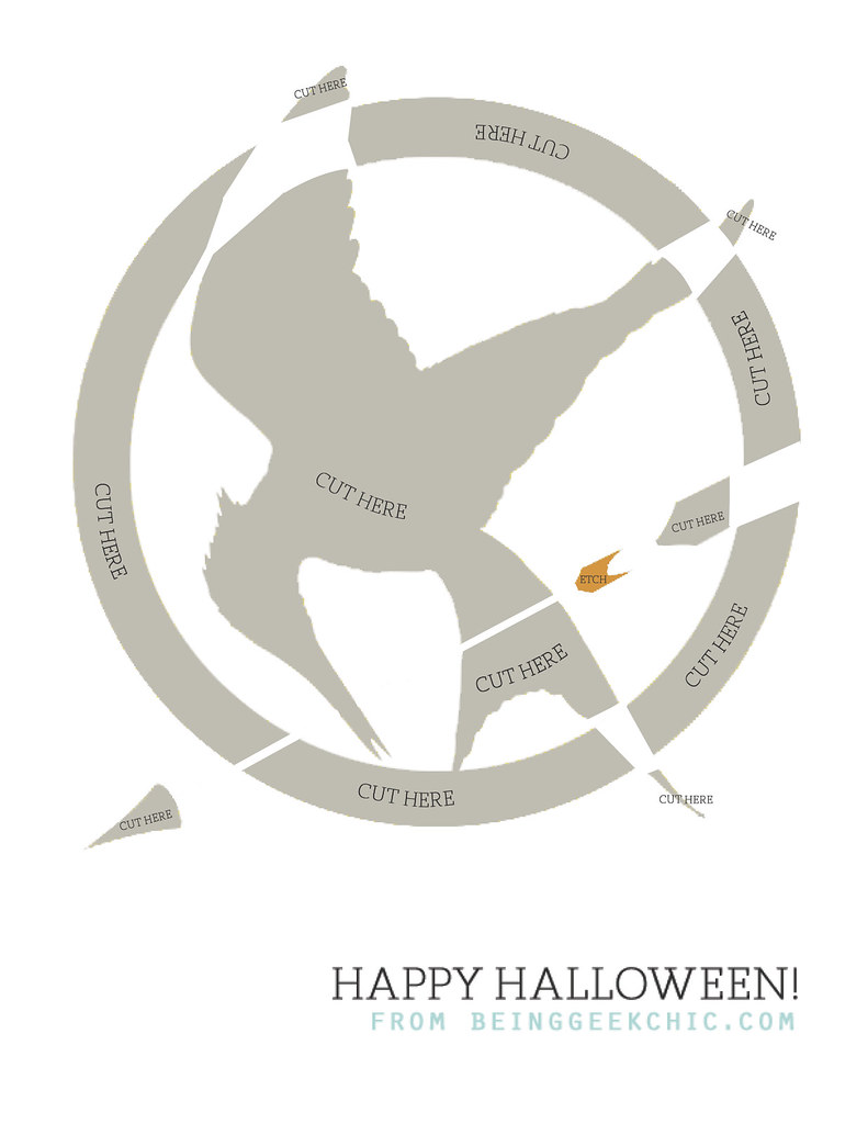 Free mockingjay pumpkin carving template here s a