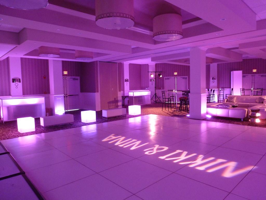 Sweet 16 club theme glow dance floor
